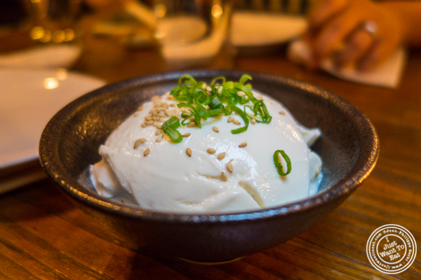 Homemade tofu at Hanjan in NYC, New York