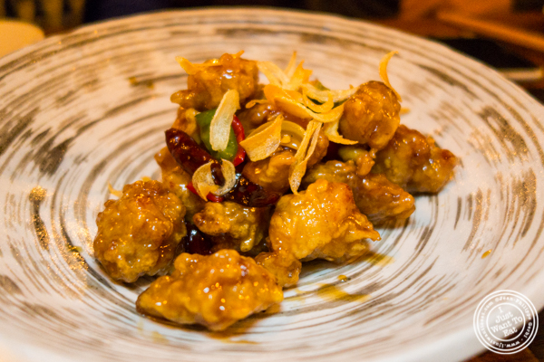 Spicy garlic fried chicken at Hanjan in NYC, New York