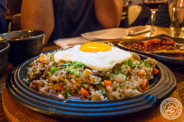 Wagyu beef fried rice at Hanjan in NYC, New York