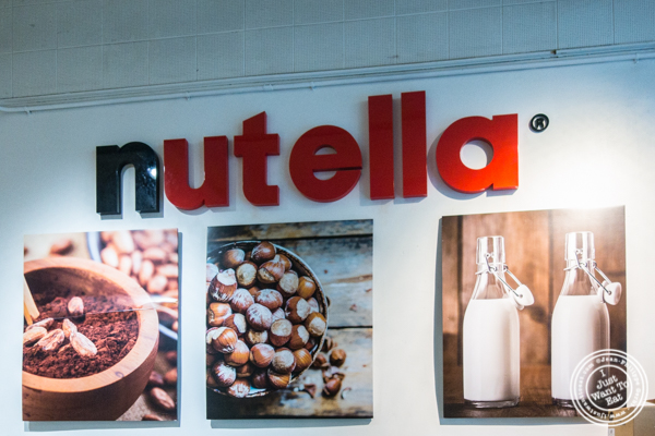 Sign from Eataly Nutella Bar in NYC, NY