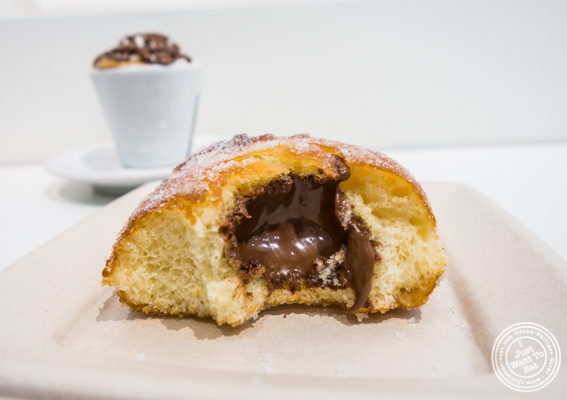 Nutella bombolone at Eataly Nutella Bar in NYC, NY
