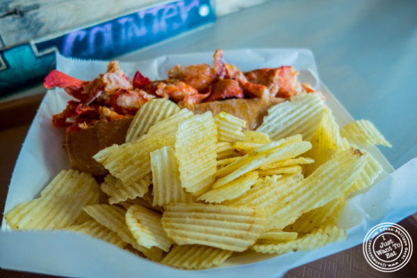 Potato chips with lobster roll at LobsterCraft in NYC, NY