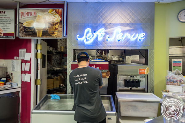 Soft serve ice cream machine at Carvel in Woodside, Queens