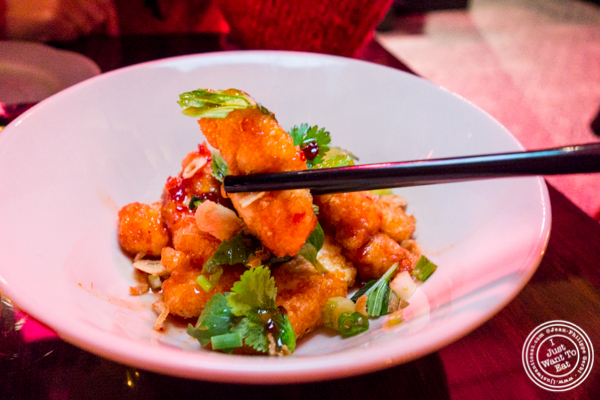 "Fried cheese ""sweet and sour"" at Chaan Teng in Hell's Kitchen, NY"