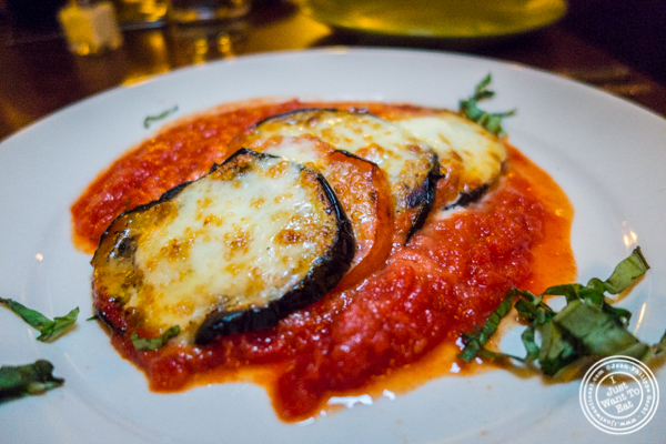Eggplant Napoleon at Bettola on the Upper West Side, NYC, NY