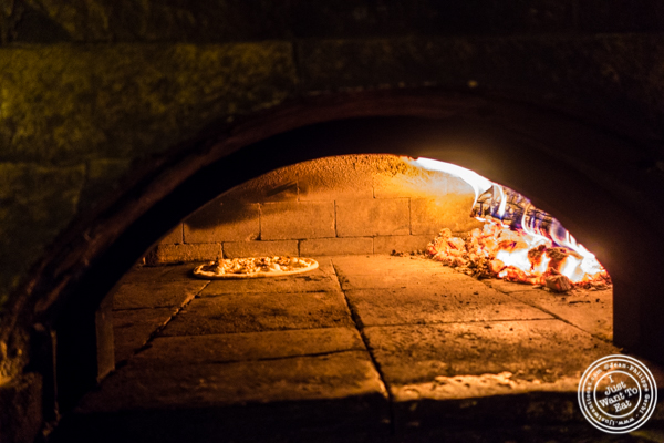 Wood fire oven at Bettola on the Upper West Side, NYC, NY