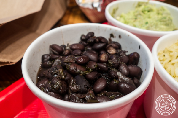 Black beans at Tres Carnes in NYC, NY