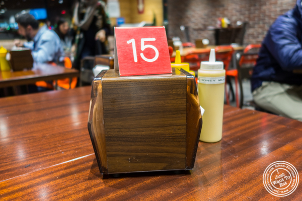 Order number at Chirping Chicken in Hell's Kitchen