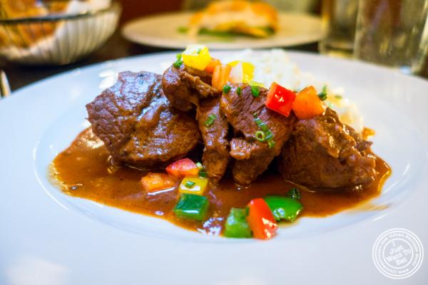 Beef goulash at Blaue Gans in TriBeCa, NYC