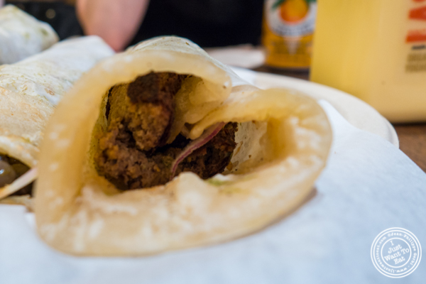Shami kebab Kati roll at The Kati Roll Company in NYC, NY