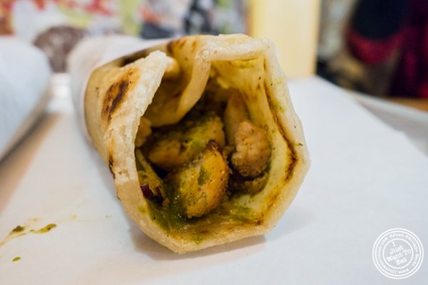 Chicken Tikka Kati roll at The Kati Roll Company in NYC, NY