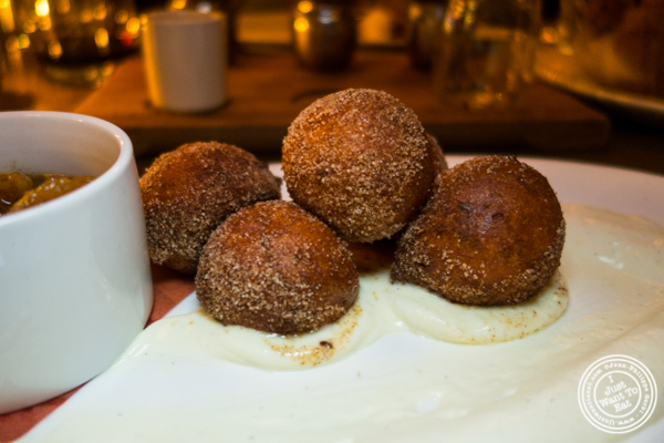 Ricotta donuts at The Wayfarer in NYC, NY
