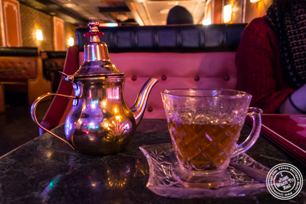 Moroccan tea at Cafe Istanbul in Astoria, Queens