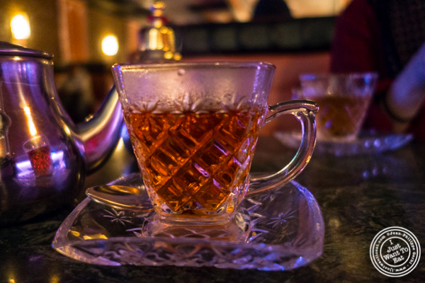 Egyptian tea at Cafe Istanbul in Astoria, Queens