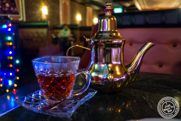Turkish tea at Cafe Istanbul in Astoria, Queens