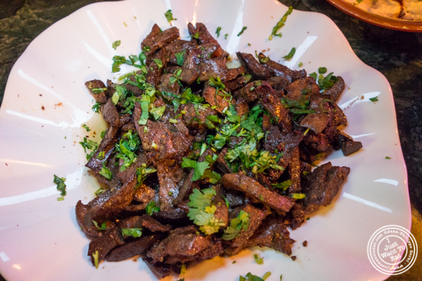 Lamb liver at Cafe Istanbul in Astoria, Queens