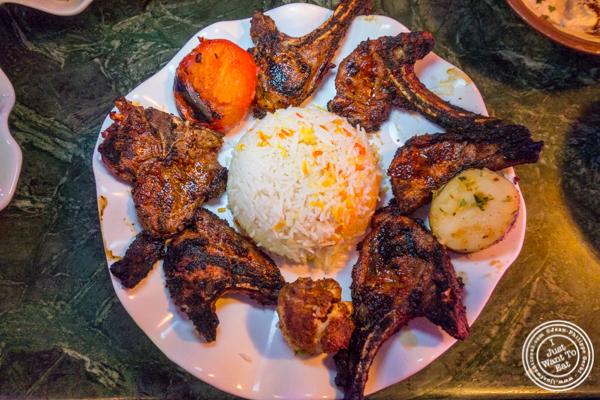 Lamb chops at Cafe Istanbul in Astoria, Queens