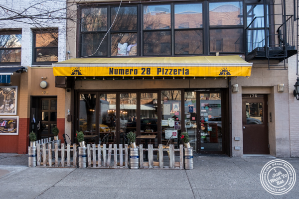 Facade at Numero 28 Pizzeria, NYC, New York