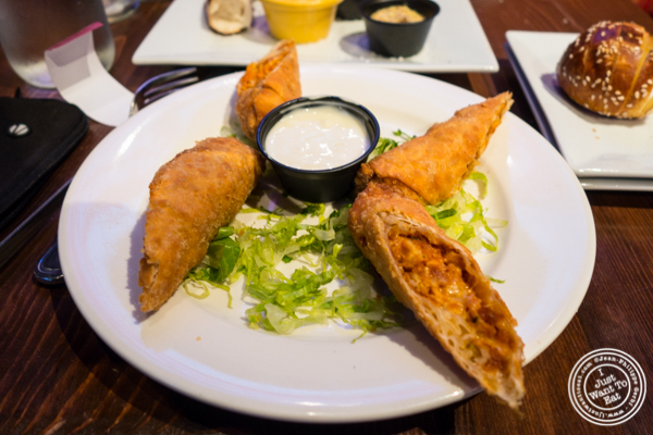 Buffalo chicken spring rolls at The Shepherd and The Knucklehead in Hoboken, NJ