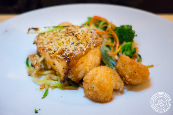 Miso crusted sea bass at Bryant Park Grill in NYC, NY