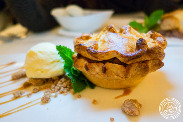 Deep dish apple pie at Bryant Park Grill in NYC, NY