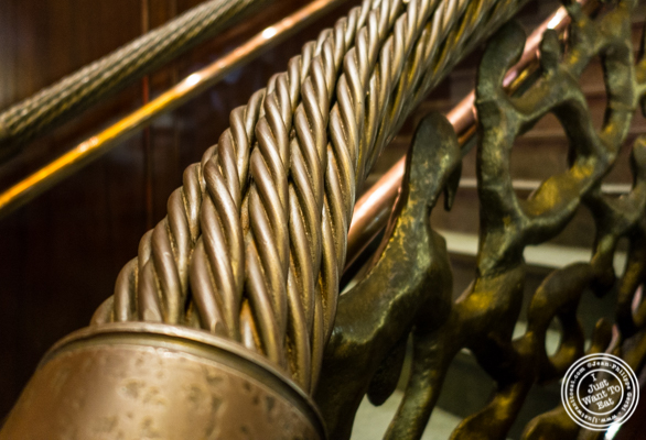 Staircase at Del Frisco's Double Eagle Steakhouse in Manhattan, NYC
