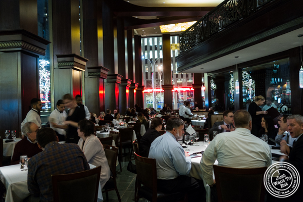 Dining room at Del Frisco's Double Eagle Steakhouse in Manhattan, NYC