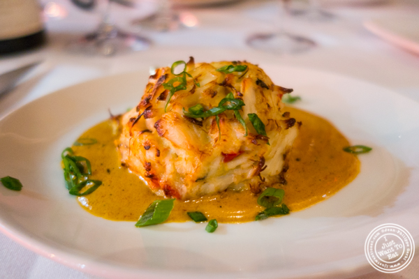 Crab cake at Del Frisco's Double Eagle Steakhouse in Manhattan, NYC