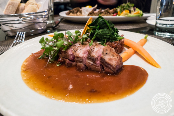Duck breast at Gaby, NYC, NY