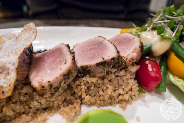 Tuna and quinoa in Salade Nicoise at Gaby, NYC, NY