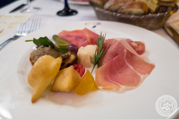 Antipasti at Osteria Del Circo in NYC, NY
