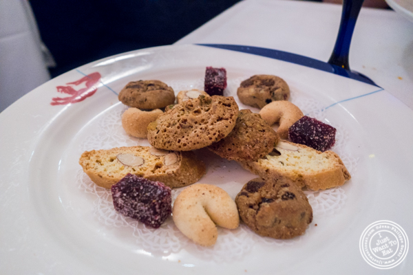 Italian cookies at Osteria Del Circo in NYC, NY
