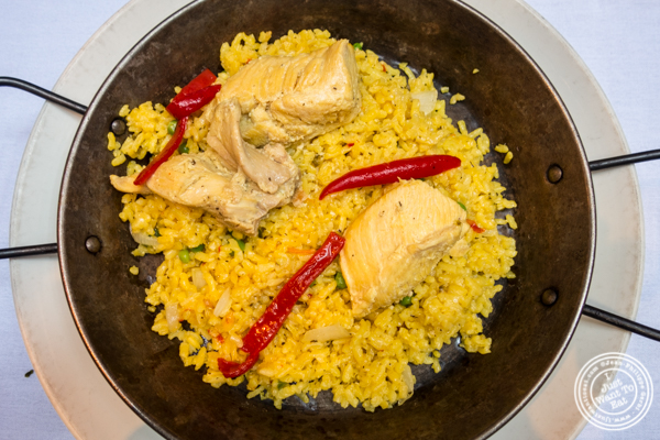 Arroz con pollo at Victor's Café, Cuban restaurant in NYC, NY