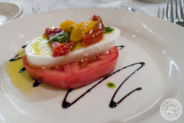 Tomato and mozzarella at Bobby Van's on Park Avenue, NYC, NY
