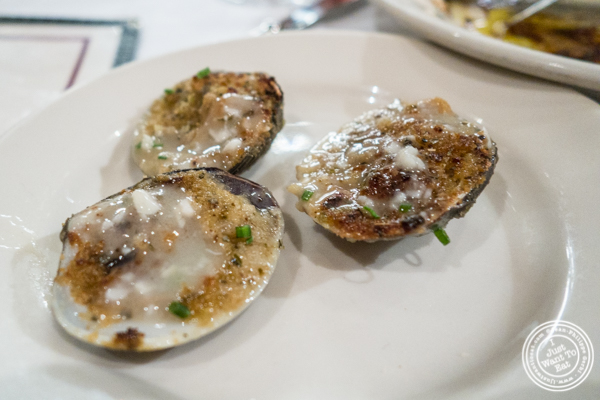 Baked clams at Bobby Van's on Park Avenue, NYC, NY