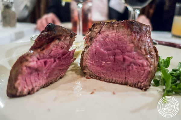 Filet mignon at Bobby Van's on Park Avenue, NYC, NY