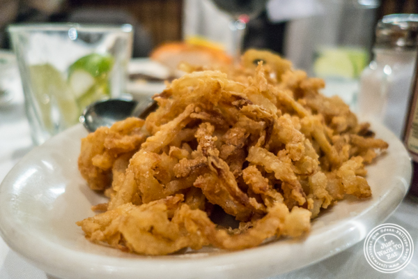 Fried onions at Bobby Van's on Park Avenue, NYC, NY
