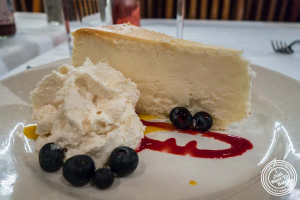 Cheesecake at Bobby Van's on Park Avenue, NYC, NY