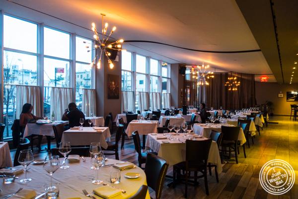 Dining room at ORO, Italian restaurant in Long Island City