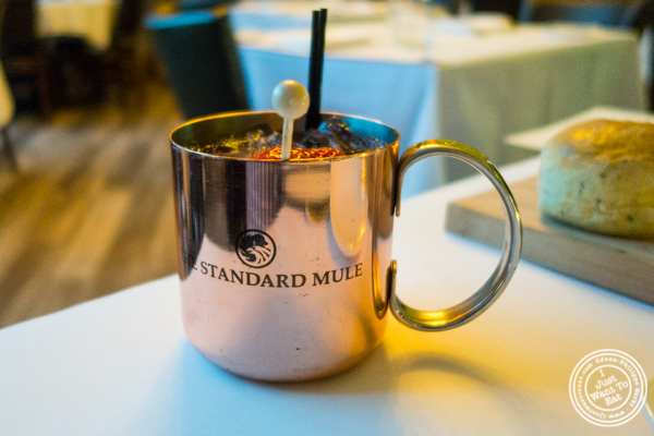Mule cocktail, sweet and bitter at ORO, Italian restaurant in Long Island City