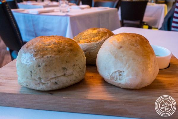 Homemade bread at ORO, Italian restaurant in Long Island City