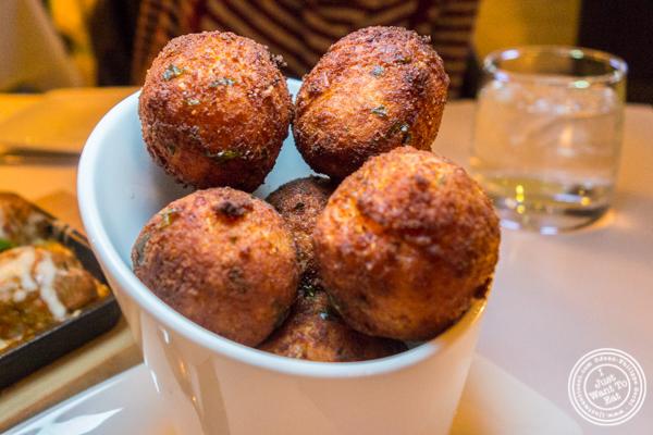 Butternut squash arancini at ORO, Italian restaurant in Long Island City