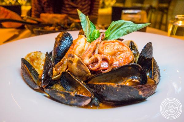 Squid ink linguine at ORO, Italian restaurant in Long Island City