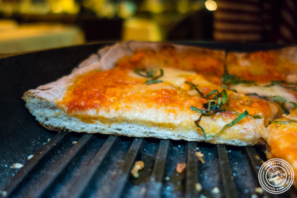 Grandma deep dish pizza at ORO, Italian restaurant in Long Island City