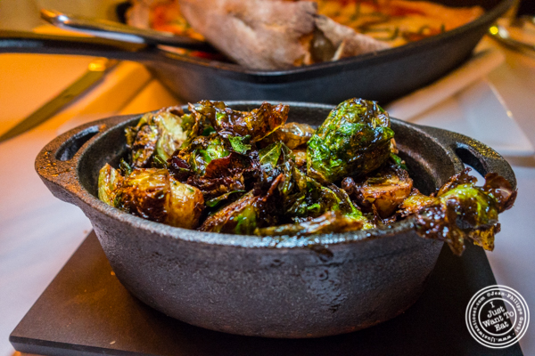Crispy brussels sprouts at ORO, Italian restaurant in Long Island City