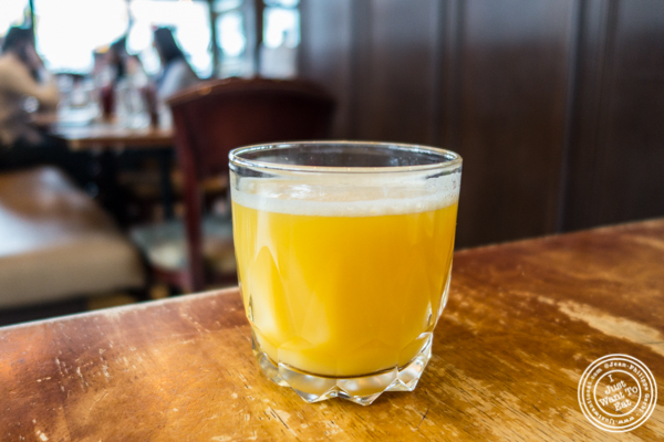 Fresh squeeze orange juice at Brasserie Athenee in NYC, NY