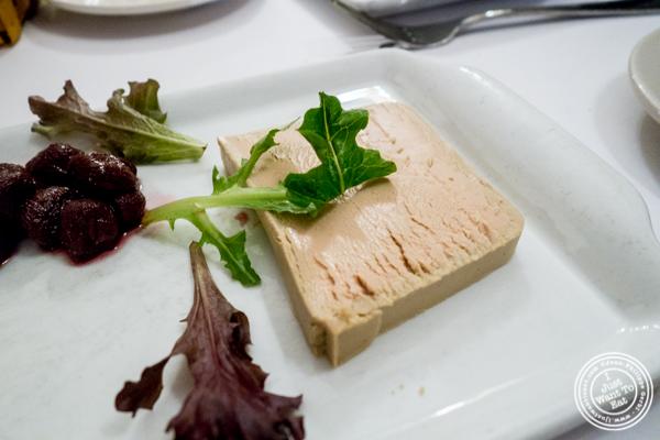 Terrine de foie gras at Sel et Poivre in NYC, NY