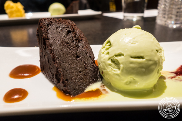 Dark chocolate white miso brownie at Haru in Hell's Kitchen, NYC, NY