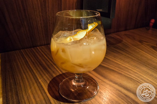 Bitter Sling cocktail at Butter in NYC, NY