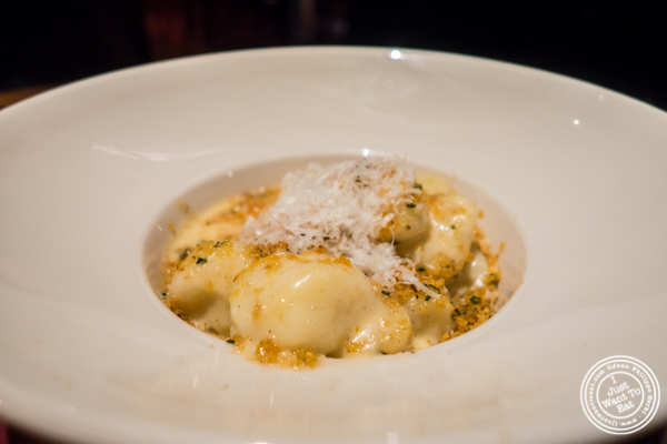 Gnocchi mac and cheese at Butter in NYC, NY